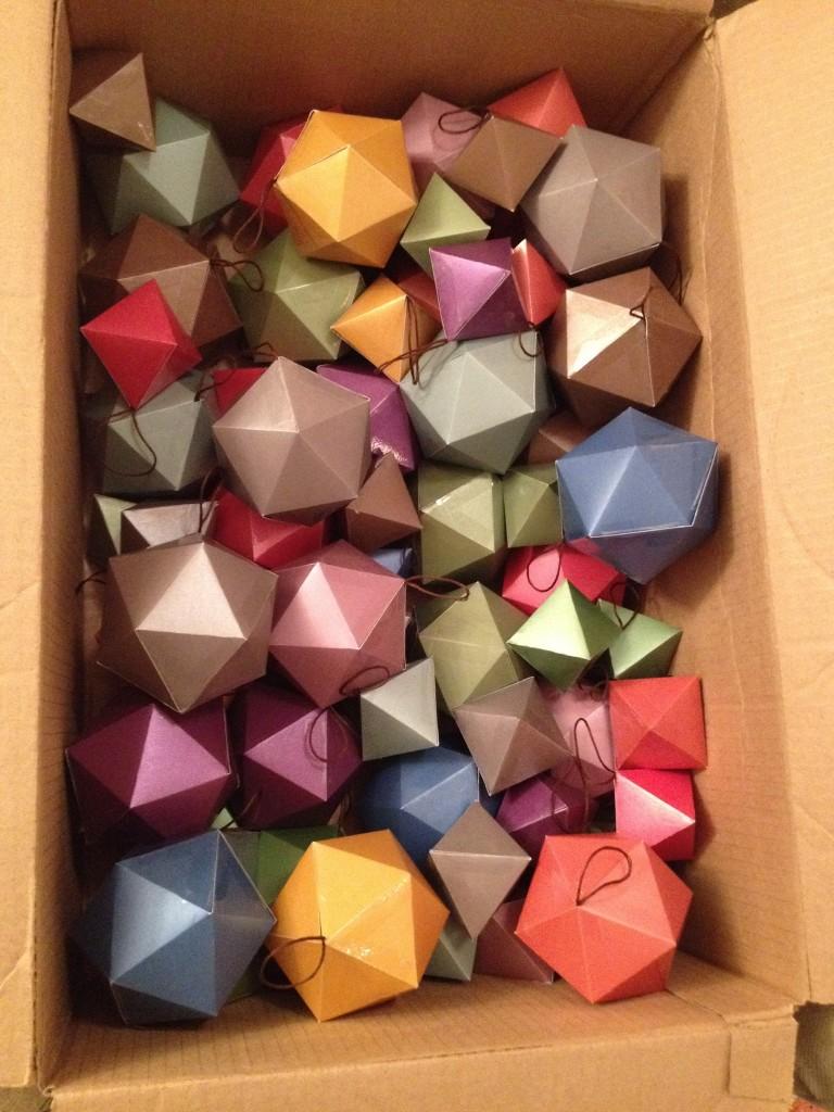 Geometric Solid Christmas Ornaments