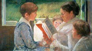 """Mary Cassatt, """"Reading to Children"""""""